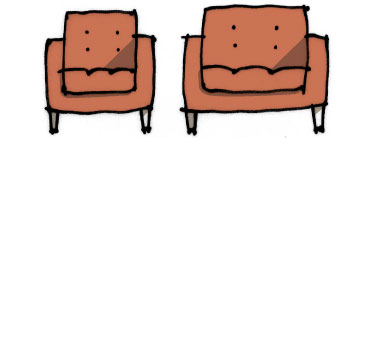 Drawing of a Chair and a 'Chair and a Half'