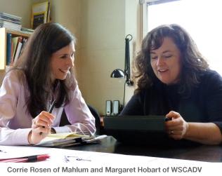 Corrie Rosen of Mahlum and Margaret Hobart of WSCADV